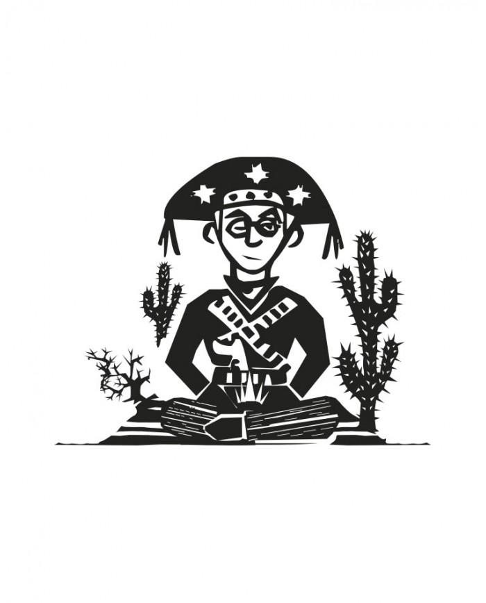 Caneca Porcelanato Lampião Meditando