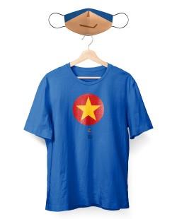 Camiseta + 2 Máscaras Meu Pai Meu Herói