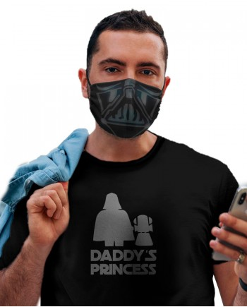 Camiseta Daddy's Princess + 2 Máscaras