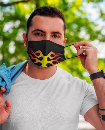 Máscara Fogo - Tecido Lavável