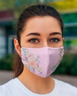 Máscara Floral - Tecido Lavável