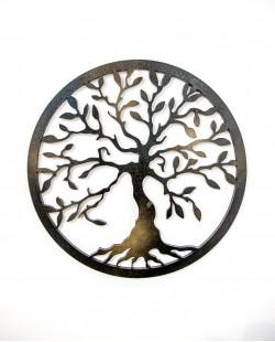 Árvore da Vida Dupla face Preto | Preto com Dourado