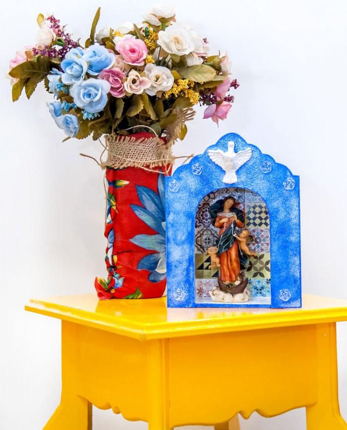 Oratório   Capela Azul em Mdf