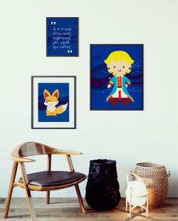 3 Placas Decorativas Pequeno Príncipe e Frase