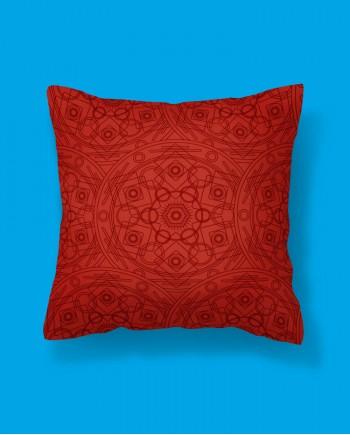 Almofada Quadrada Mandala Vermelha