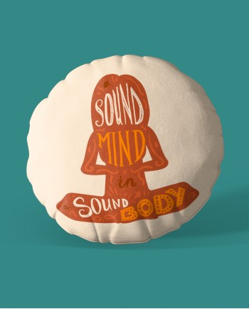 Almofada Redonda Sound Mind