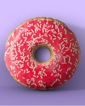 Almofada Donut de Frutas Vermelhas
