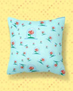Almofada Quadrada Pequeno Príncipe Padrão Rosa