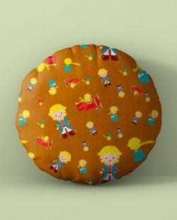Almofada Redonda Padrão Pequeno Príncipe