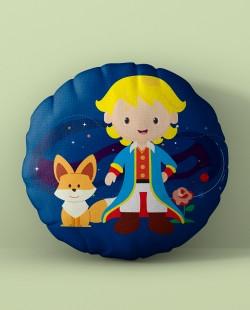Almofada Redonda Pequeno Príncipe e Raposa