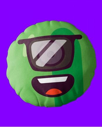Almofada Redonda Alien Óculos