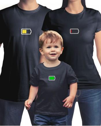 3 Camisetas Bateria da Família