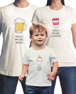 3 Camisetas Família Need More