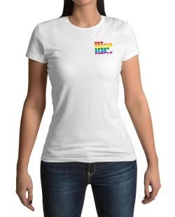 Camiseta Cores Arco-Íris