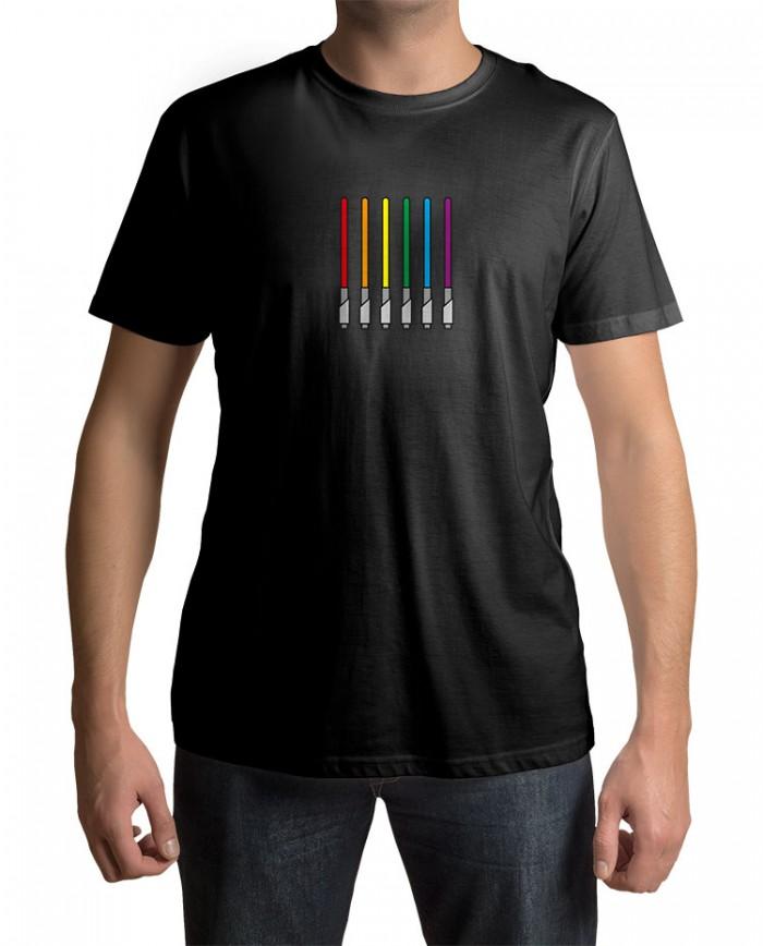 Camiseta Sabre de Luz Cores