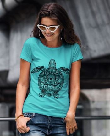 Camiseta Mandala Tartaruga