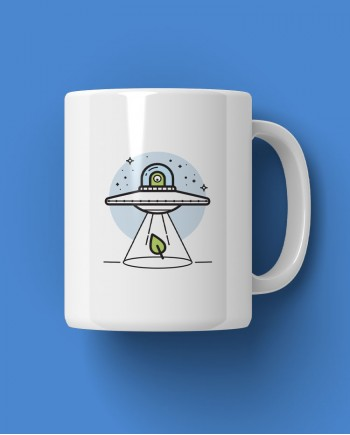 Caneca Ufo Alien Planta